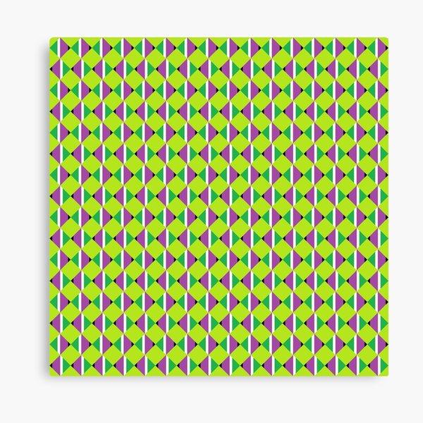 #Pattern, #design, #abstract, #textile, tile, square, mosaic, decoration, illusion, shape Canvas Print