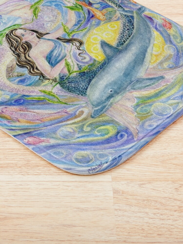 Alternative Ansicht von Yin Yang Meerjungfrauen Badematte