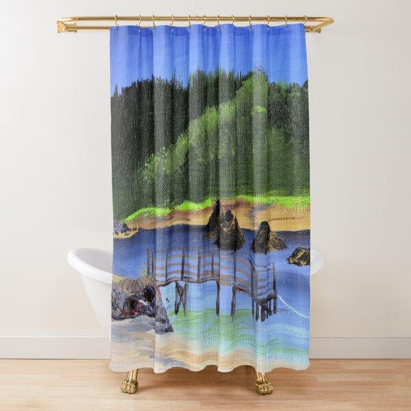 Taft Bay Lincoln City Shower Curtain