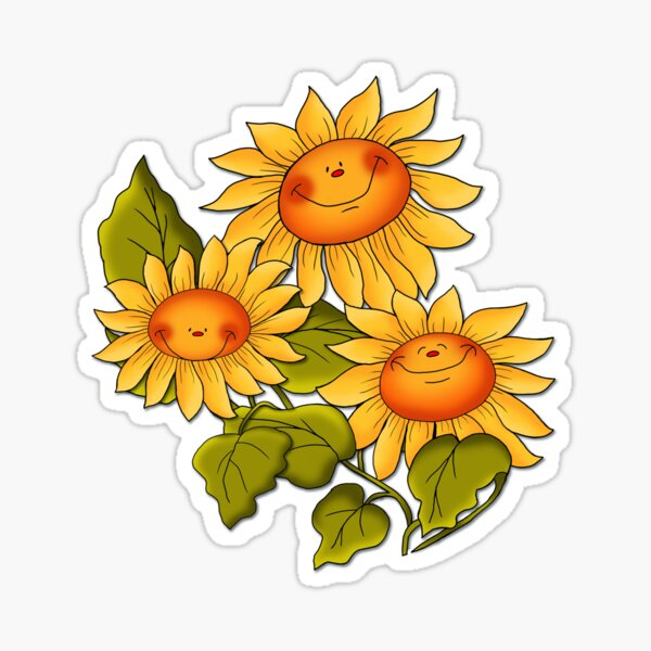 Sunflowers Make for Sunny Thoughts  Sticker