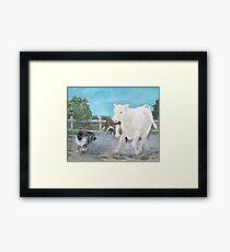 Lizard and The White Steer Framed Print
