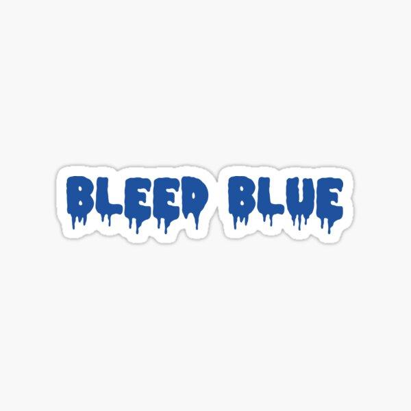 Bleed Blue Dark Sticker