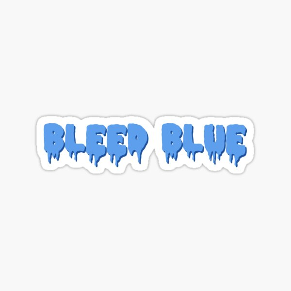Bleed Blue with Shadow Sticker