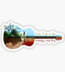 Hadestown guitar silhouette Sticker