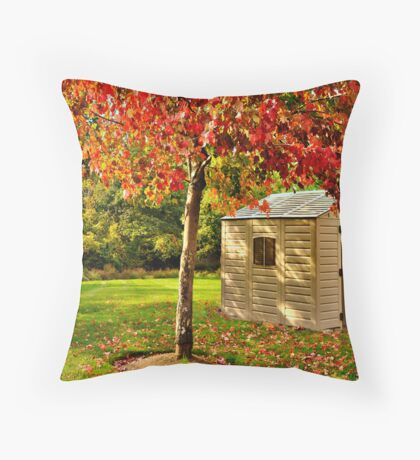 First signs of fall III Throw Pillow