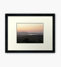 Soft evening light - Towards Downings Donegal  Ireland  Framed Print