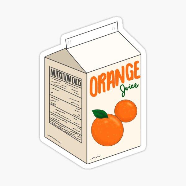 orange juice carton Sticker