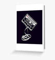 Cassette Tape Audio Analog Old School Music Geek Vintage Design Greeting Card