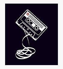 Cassette Tape Audio Analog Old School Music Geek Vintage Design Photographic Print