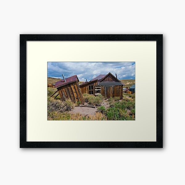 Bodie CA, The Wind Gets Pretty Strong Around Here Framed Art Print
