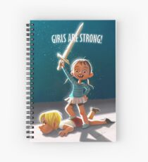 Girls are Strong! Spiral Notebook