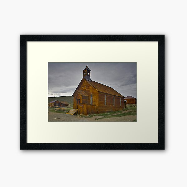 Bodie CA, The Old Bodie Church Framed Art Print