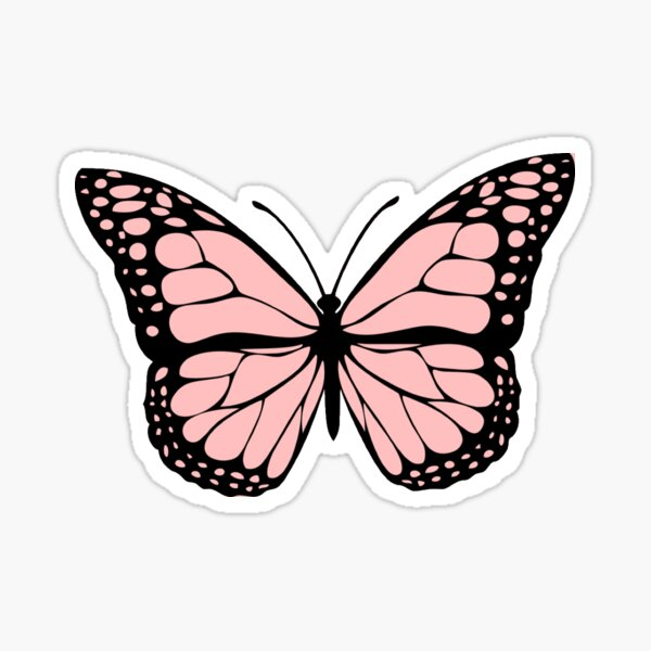 light pink butterfly Sticker