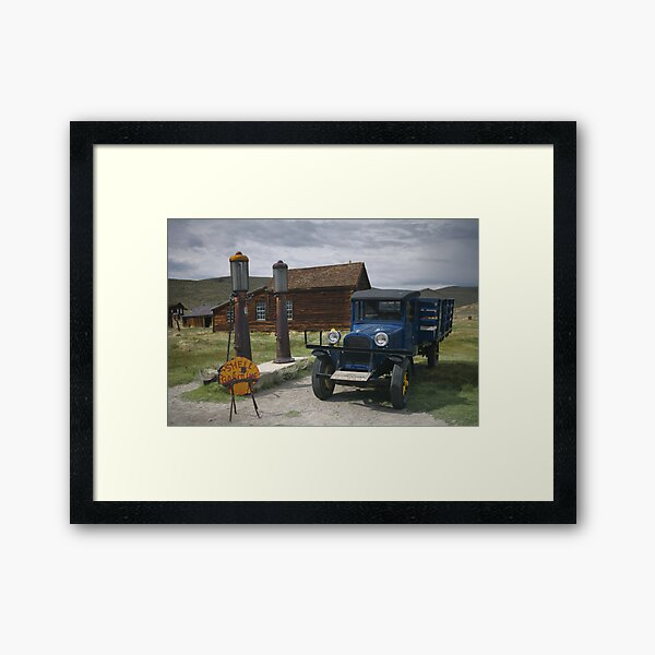 Bodie CA The Old Bodie Shell Station Framed Art Print
