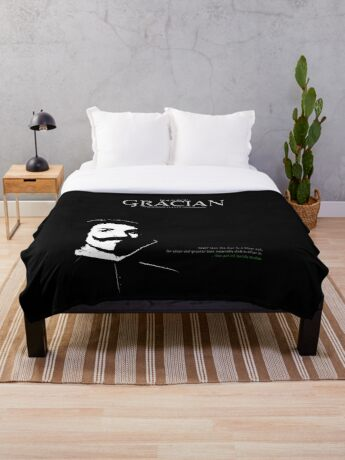 A Quote By Baltasar Gracian Throw Blanket