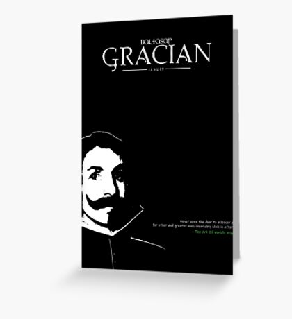 A Quote By Baltasar Gracian Greeting Card