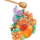 «Acuarela miel y flores» de Ekaterina Glazkova