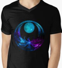 Nachtigallenergien T-Shirt mit V-Ausschnitt für Männer
