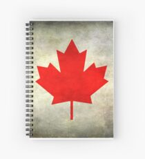 Canadian Flag Spiral Notebook