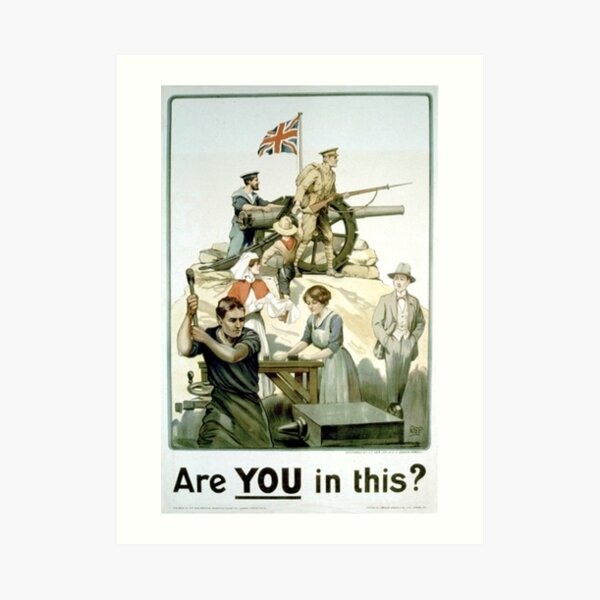 #Propaganda #posters of the First World War #Агитационные #плакаты Первой мировой войны Art Print