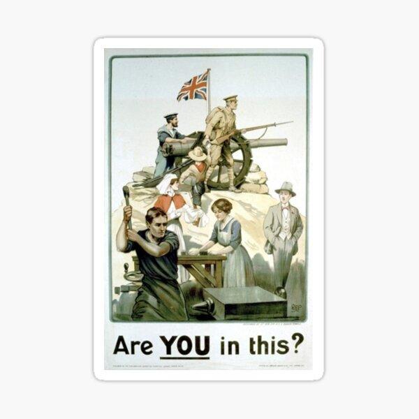 #Propaganda #posters of the First World War #Агитационные #плакаты Первой мировой войны Sticker
