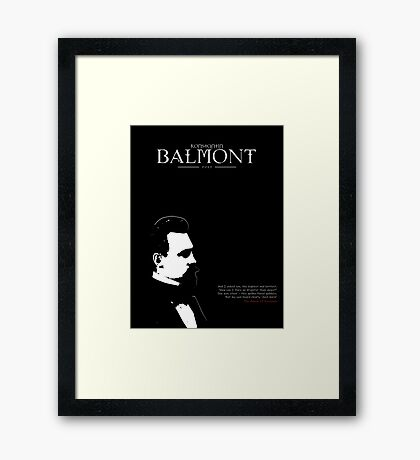 A Quote By Konstantin Balmont Framed Print