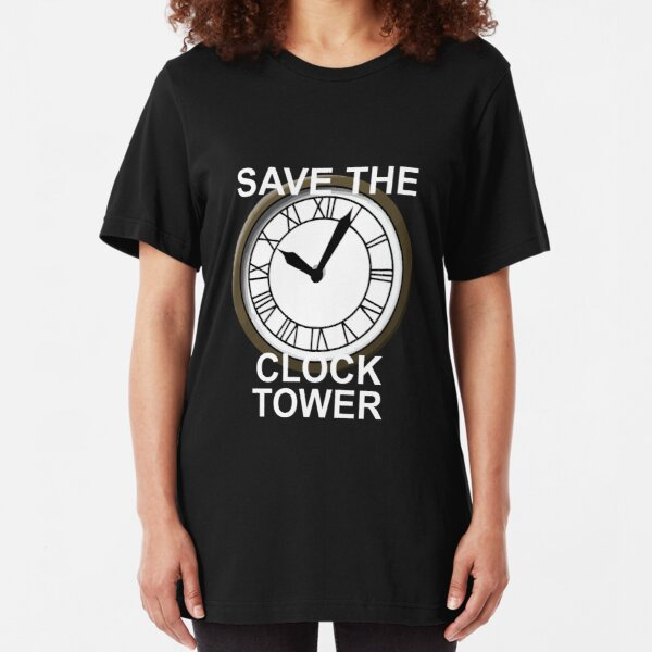 Save the Clock Tower! Slim Fit T-Shirt