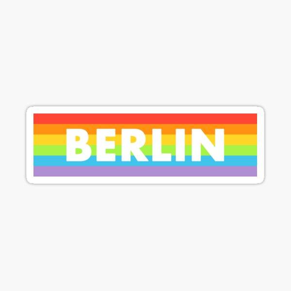 Berlin Rainbow Flag Sticker