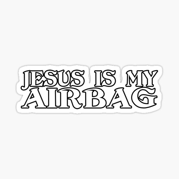 Jésus est mon airbag drôle de voiture rétro Sticker
