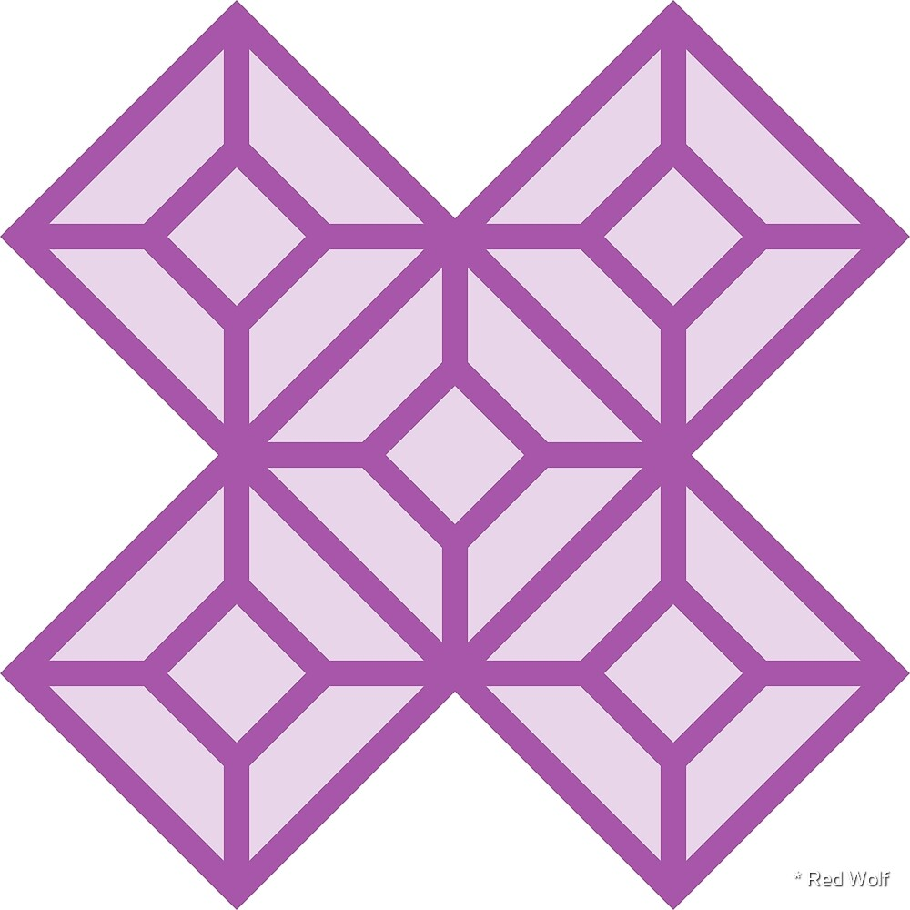 Geometric Pattern: Diamond Tile: Light Purple by * Red Wolf