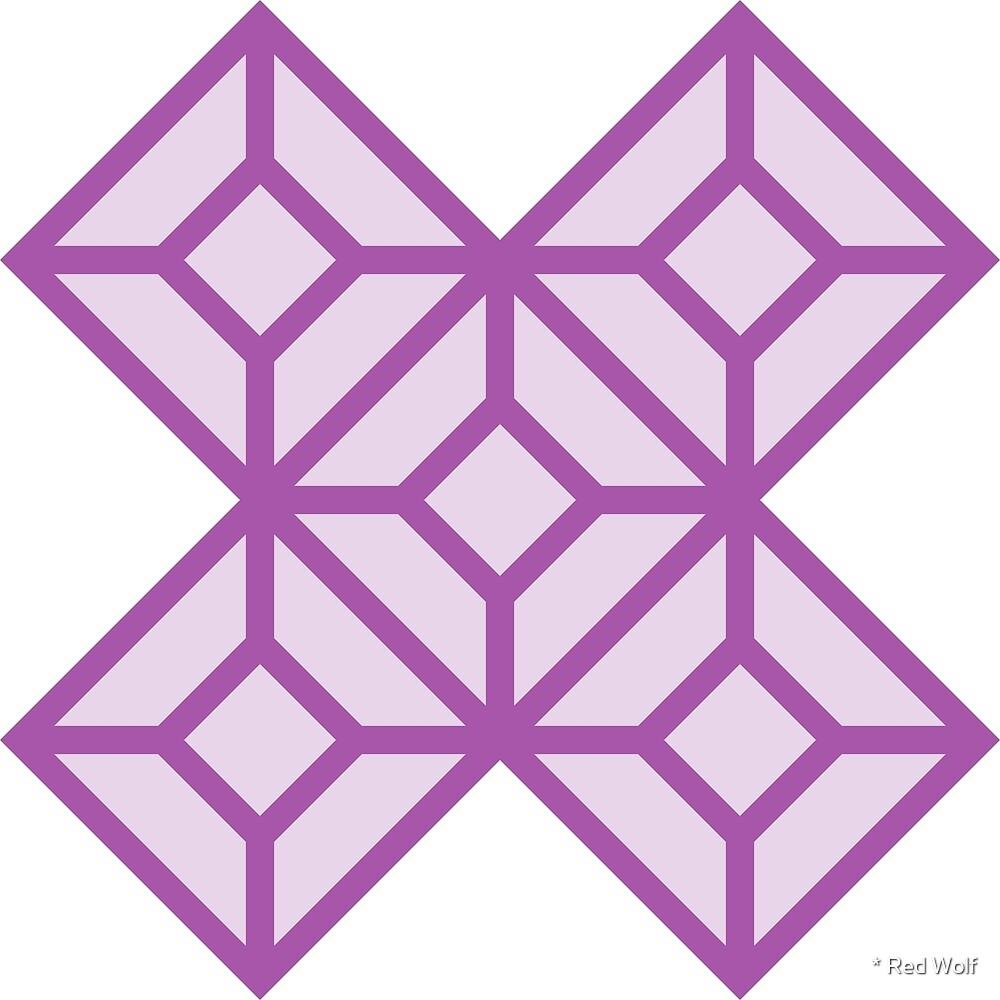 Geometric Pattern: Diamond Tile: Light Purple by * Red Wolf
