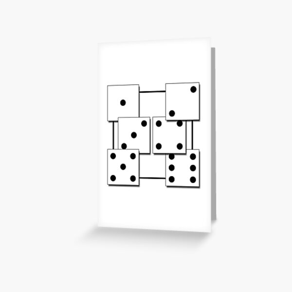 D6 Dice  Greeting Card