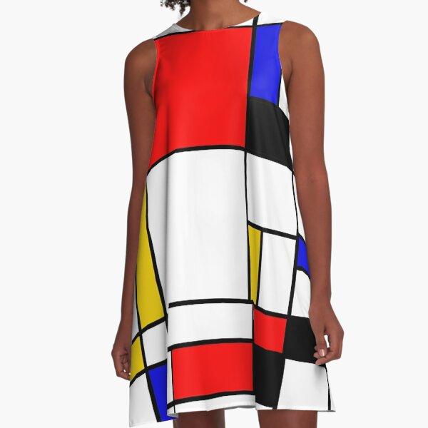 Bauhouse Mondrian Style A-Line Dress