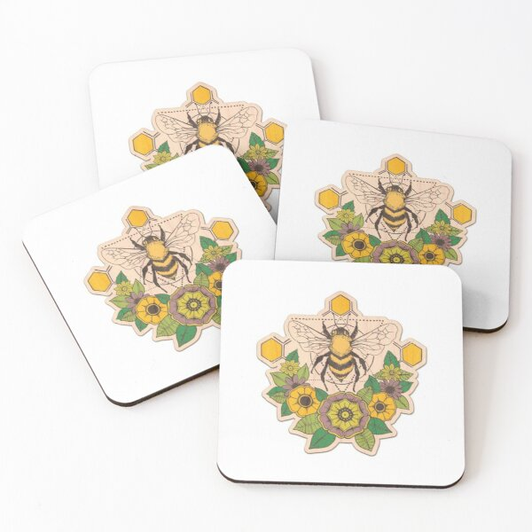 bees Coasters (Set of 4)