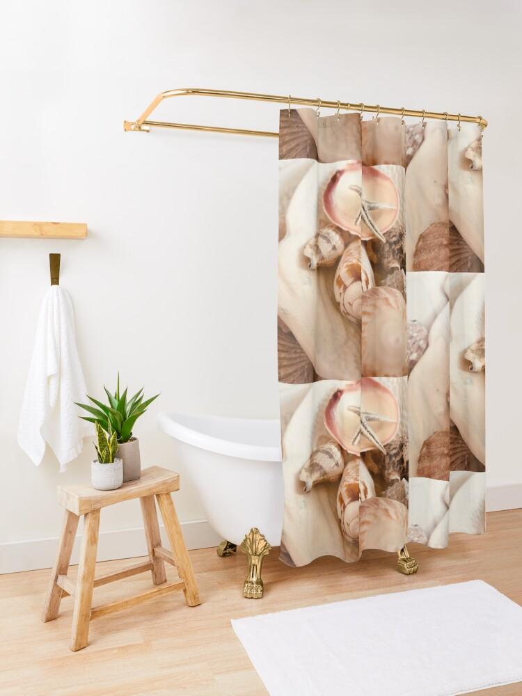 Alternate view of Kent's Shells Shower Curtain