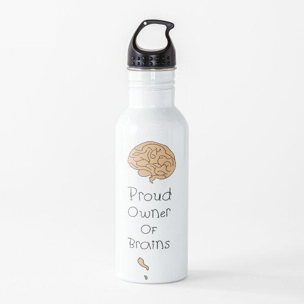 'Proud Owner of Brains' by Hannah Stringer (Stringer Things) Water Bottle