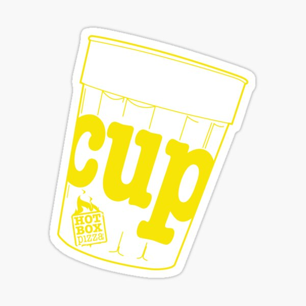 HotBox Cup-Yellow Sticker
