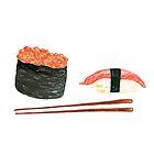 Sushi-Rollen Und Ikura-Rolle von daphsam