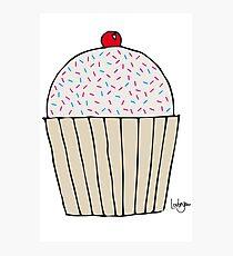 Sweet Strawberry Cupcake Photographic Print