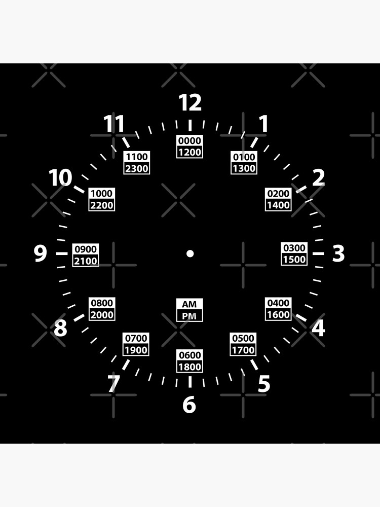 24 Hour Military Time and Standard Time Combo by hobrath