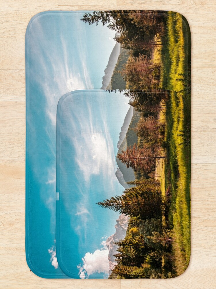 Alternate view of Summer has arrived in the italian alps Bath Mat