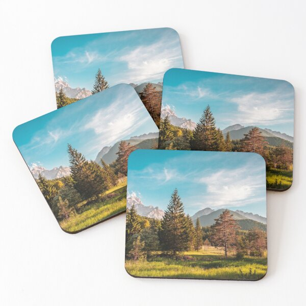 Summer has arrived in the italian alps Coasters (Set of 4)