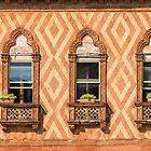 Klare venezianische Akzente - drei fantastische byzantinische Fenster von Georgia Mizuleva