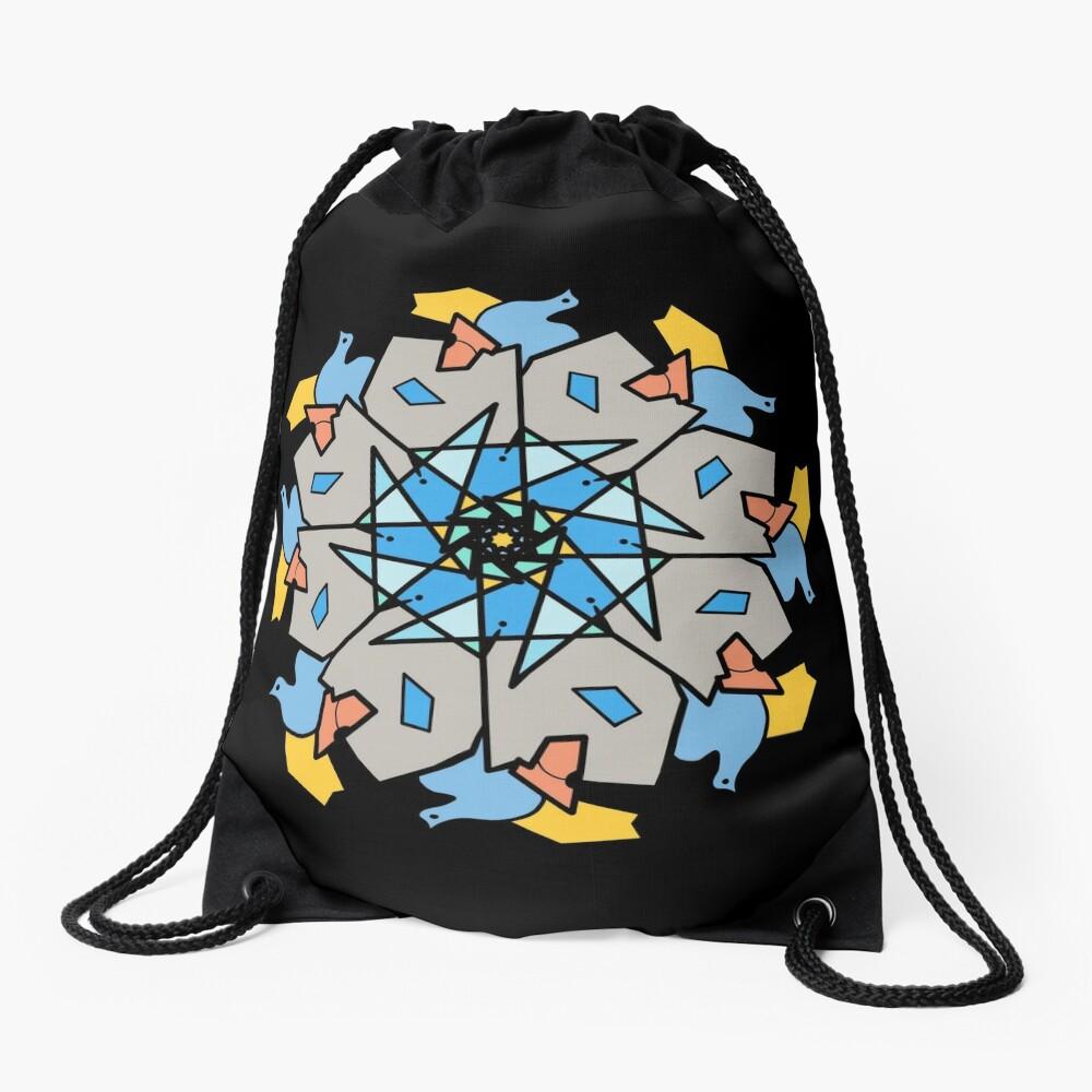 Morning Bird Mandala Drawstring Bag