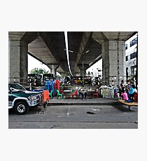 Concrete shelter Photographic Print