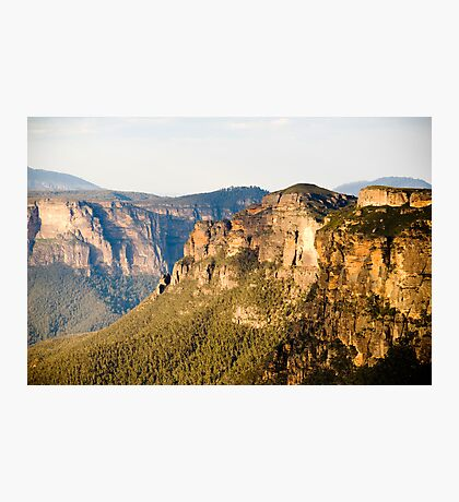 The cliffs of the Blue Mountains Photographic Print