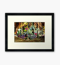 Melbourne Graffiti Framed Print