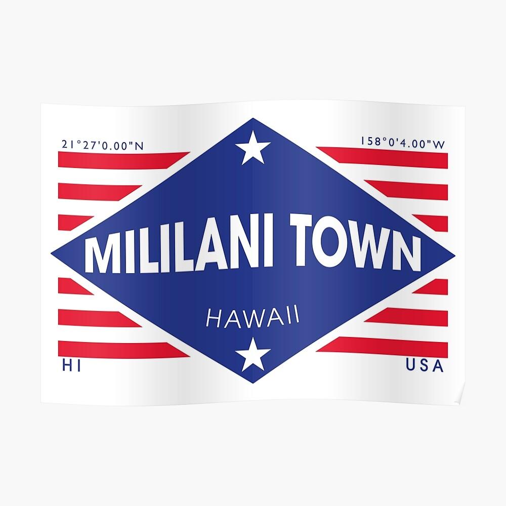 Mililani Town, Hawaii - Diamond Flag Póster