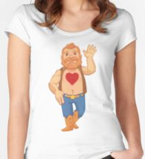 Tenderheart Bear Women's Fitted Scoop T-Shirt