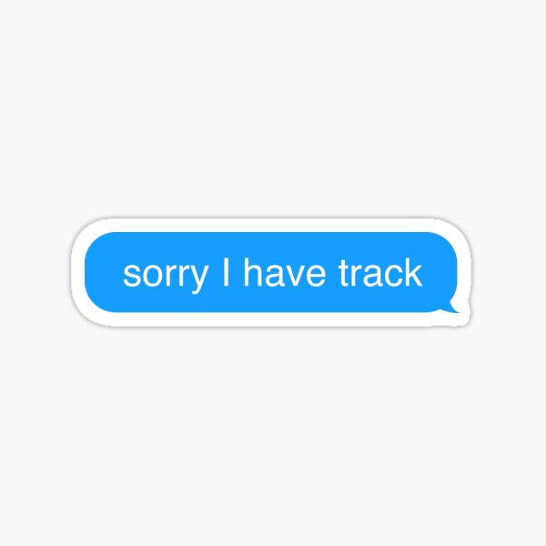 Sorry I have Track Text Message Sticker Sticker